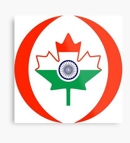 Indo Canadian Multinational Patriot Flag Series Metal Print
