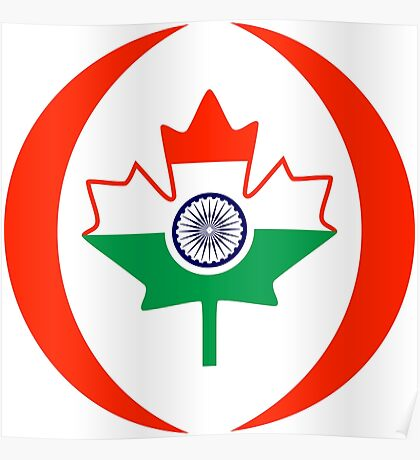 Indo Canadian Multinational Patriot Flag Series Poster