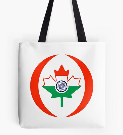 Indo Canadian Multinational Patriot Flag Series Tote Bag