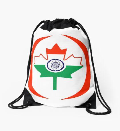 Indo Canadian Multinational Patriot Flag Series Drawstring Bag