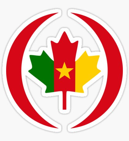 Cameroon Canadian Multinational Patriot Flag Series Sticker
