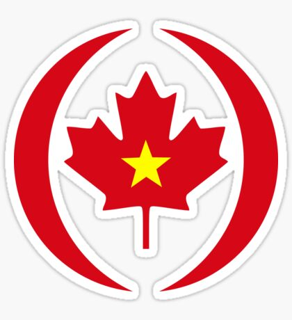 Vietnamese Canadian Multinational Patriot Flag Series Sticker
