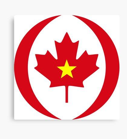 Vietnamese Canadian Multinational Patriot Flag Series Canvas Print