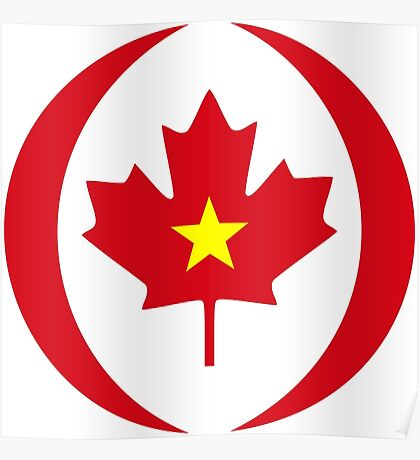 Vietnamese Canadian Multinational Patriot Flag Series Poster