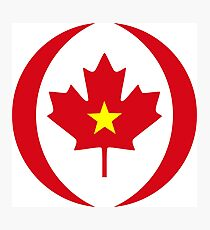 Vietnamese Canadian Multinational Patriot Flag Series Photographic Print