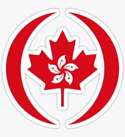 Hong Konger Canadian Multinational Patriot Flag Series Sticker