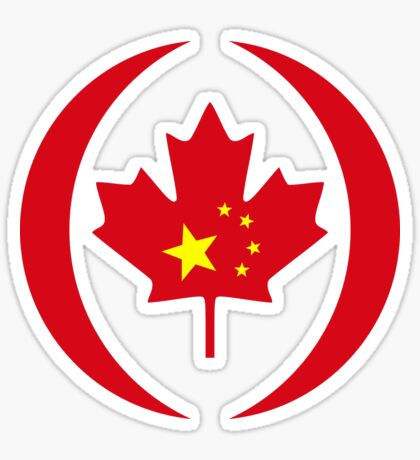 Chinese Canadian Multinational Patriot Flag Series Sticker