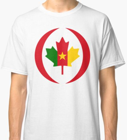 Cameroon Canadian Multinational Patriot Flag Series Classic T-Shirt