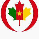 Cameroon Canadian Multinational Patriot Flag Series by Carbon-Fibre Media