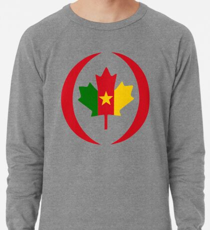 Cameroon Canadian Multinational Patriot Flag Series Lightweight Sweatshirt