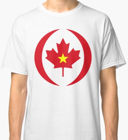 Vietnamese Canadian Multinational Patriot Flag Series Classic T-Shirt