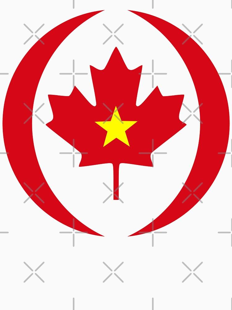 Vietnamese Canadian Multinational Patriot Flag Series by carbonfibreme