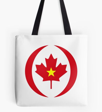 Vietnamese Canadian Multinational Patriot Flag Series Tote Bag