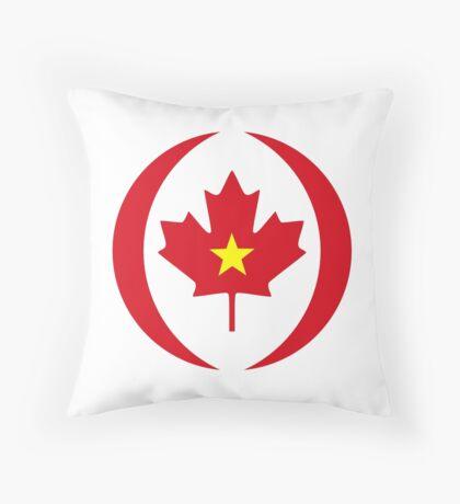Vietnamese Canadian Multinational Patriot Flag Series Throw Pillow