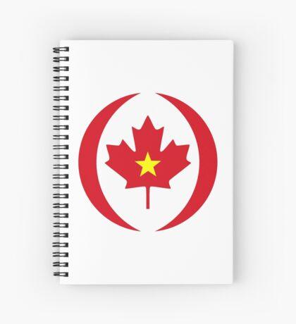Vietnamese Canadian Multinational Patriot Flag Series Spiral Notebook