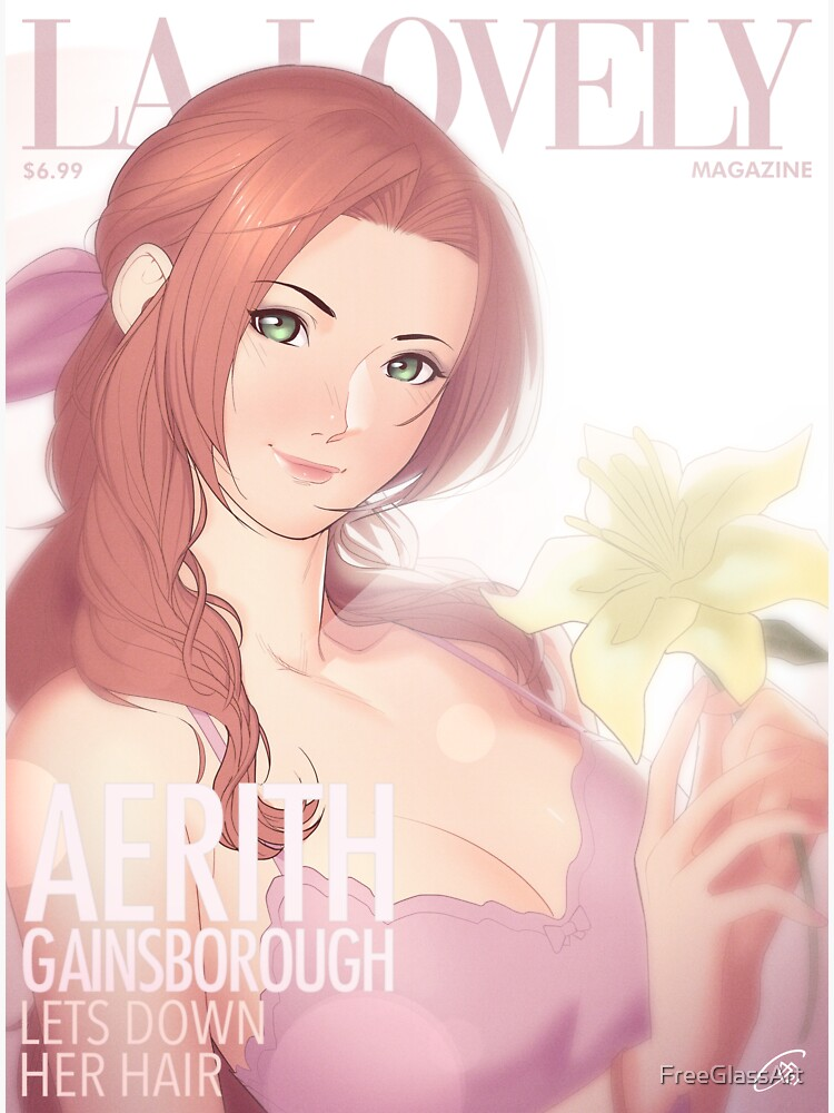 La Lovely - Aerith Gainsborough Cover 1 by FreeGlassArt