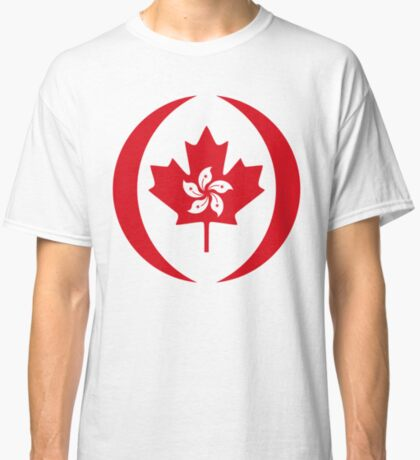 Hong Konger Canadian Multinational Patriot Flag Series Classic T-Shirt