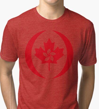 Hong Konger Canadian Multinational Patriot Flag Series Tri-blend T-Shirt
