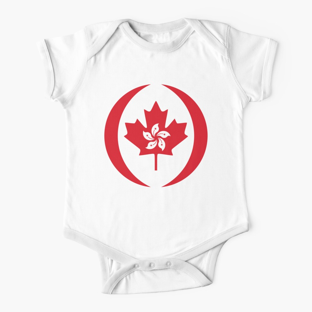 Hong Konger Canadian Multinational Patriot Flag Series Baby One-Piece