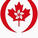 Hong Kong Canadian Multinational Patriot Flag Series by Carbon-Fibre Media