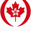 Hong Konger Canadian Multinational Patriot Flag Series by Carbon-Fibre Media