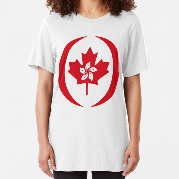 Hong Konger Canadian Multinational Patriot Flag Series Slim Fit T-Shirt
