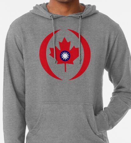 Taiwanese Canadian Multinational Patriot Flag Series Lightweight Hoodie