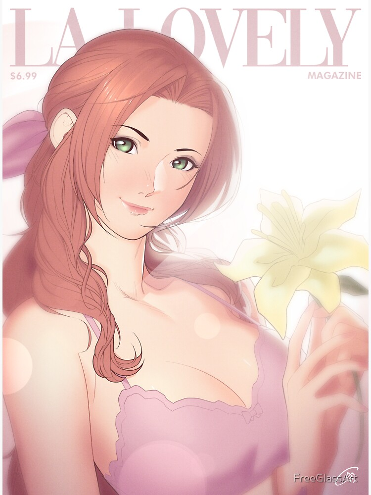 La Lovely - Aerith Gainsborough Cover Deluxe by FreeGlassArt
