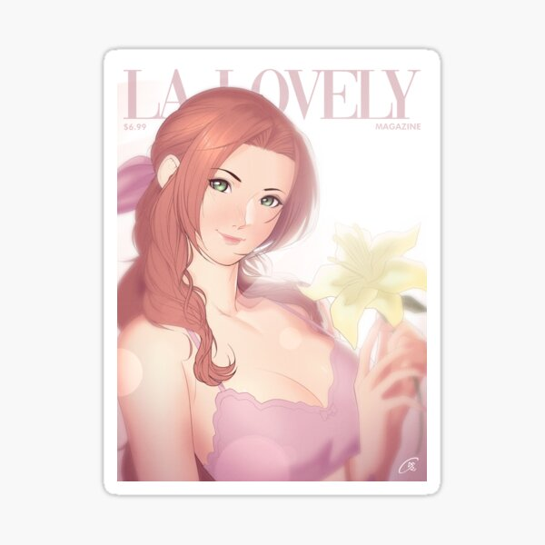 La Lovely - Aerith Gainsborough Cover Deluxe Sticker