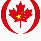 Chinese Canadian Multinational Patriot Flag Series by Carbon-Fibre Media