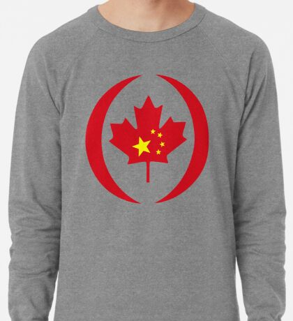 Chinese Canadian Multinational Patriot Flag Series Lightweight Sweatshirt