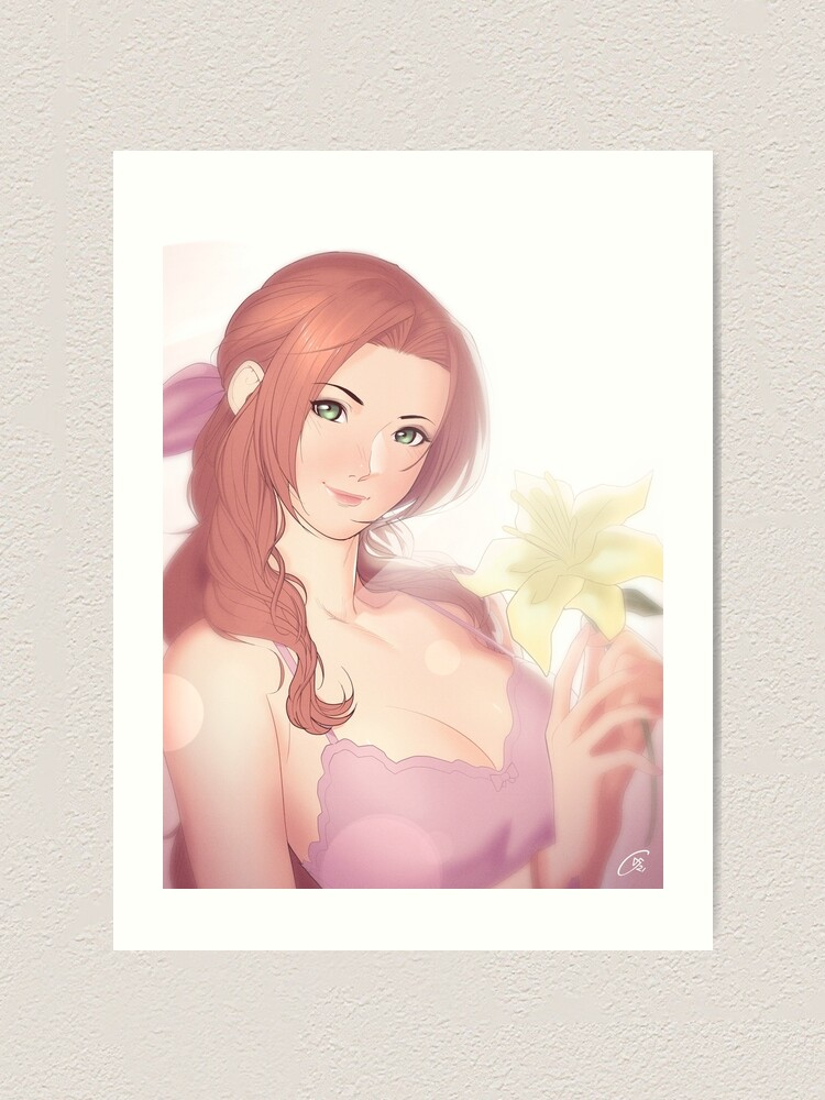 Alternate view of La Lovely - Aerith Gainsborough Art Print