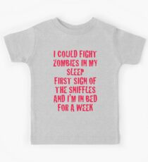 Zombies & Sniffles (Red) Kids Tee