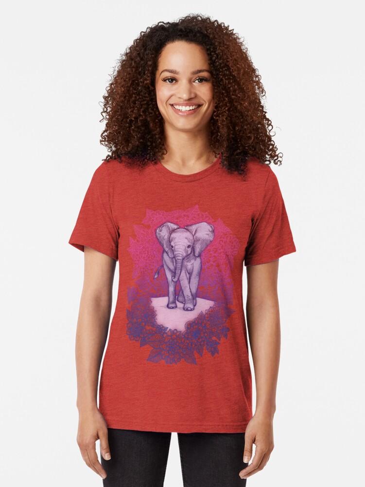 Alternative Ansicht von Niedlicher Baby-Elefant in rosa, lila und blau Vintage T-Shirt