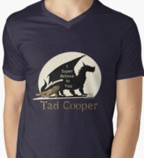 Camiseta para hombre de cuello en v Galavant: Yo Súper Creo en Ti Tad Cooper V2