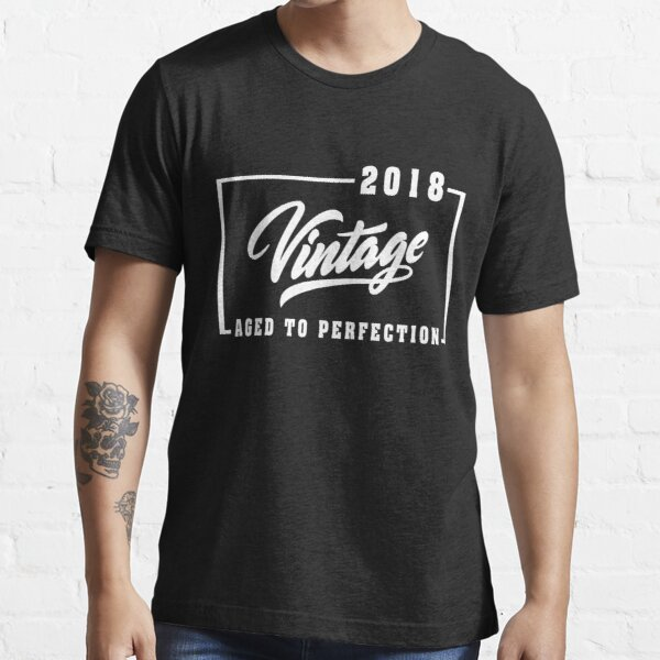 Vintage Aged to perfection est 2018, Wedding Anniversary ,birthday Gift ,married T-Shirt  Essential T-Shirt