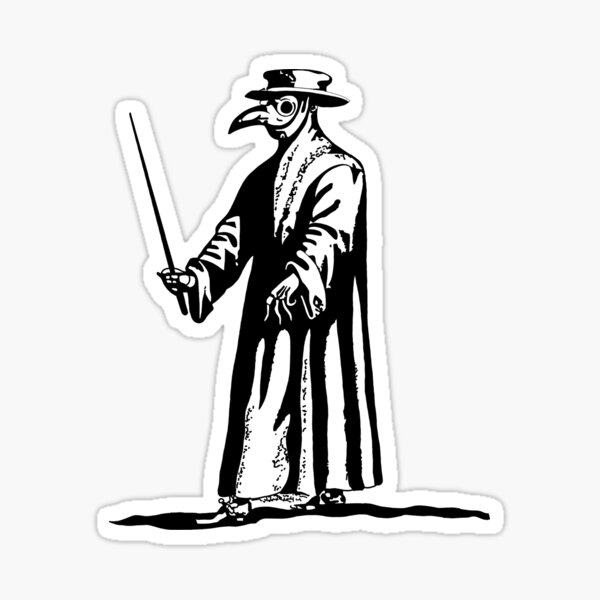 Plague Doctor - Dr. Beak - Black Death - Blackline Sticker
