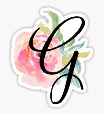 Floral Monogram G Sticker