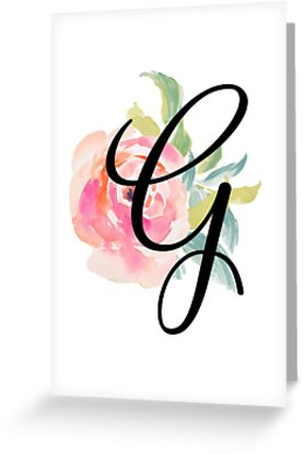 Floral Monogram G by Emily Cutter