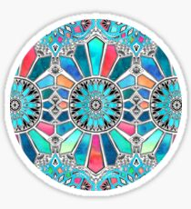 Iridescent Watercolor Brights on White Sticker