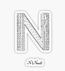 N is for Newt Sticker