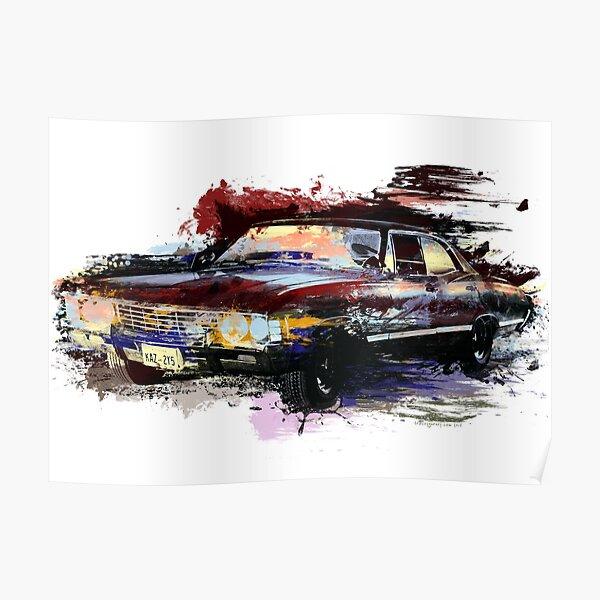 Baby Supernatural 67 Impala Watercolor Poster