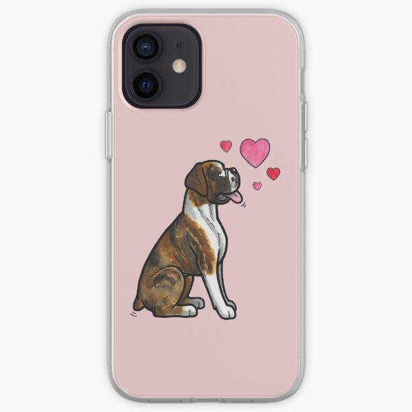 Boxer love (brindle) iPhone Soft Case