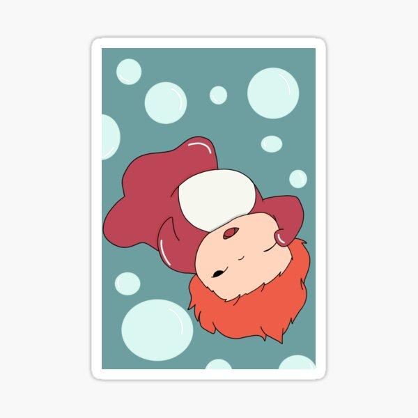 Ponyo endormi Sticker