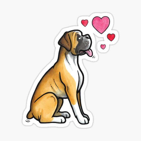 Boxer Hund Liebe Sticker