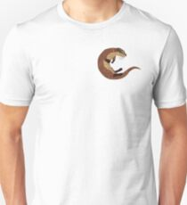 Swimming Otter Isolated T-Shirt
