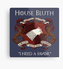 House Bluth Family Seal Metal Print