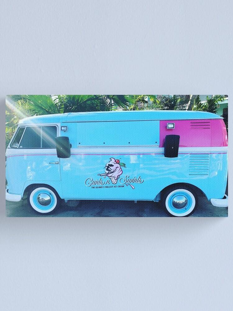 Alternate view of Pink & Blue Ice Cream Truck  Canvas Print