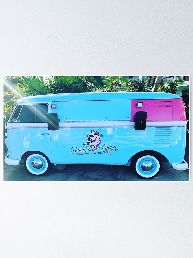 Alternate view of Pink & Blue Ice Cream Truck  Poster