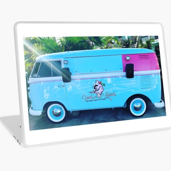 Pink & Blue Ice Cream Truck  Laptop Skin